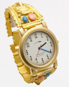【送料無料】腕時計 #ブラシゴールドベアヘッドブレスレットアナログクォーツdejunowomen039;s brush gold finish bear head bracelet analog quartz watch