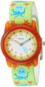 【送料無料】腕時計 キッズタイムマシンゴムストラップウォッチタコtimex tw7c13400, kids time machines elastic strap watch, octopus, time teacher