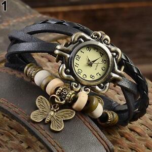 【送料無料】腕時計 ウォッチラップwomans susenstone weave wrapbutterfly braclet watch