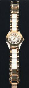 【送料無料】腕時計 イタリアブロンズリンクローマブランドバッテリーbronzo italia white and bronze link watch roman numerals 7 brand battery