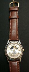 【送料無料】腕時計 ブラウンmラングラーウォッチ9 wrangler watch brown genuine leather 30 m water resistant
