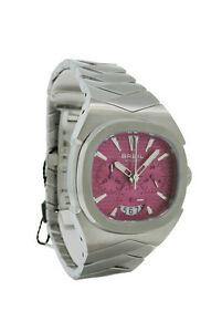 【送料無料】腕時計 #ピンククロノグラフアナログステンレススチールウォッチbreil bw0298 women039;s oblong pink chronograph date analog stainless steel watch