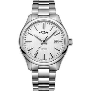 【送料無料】腕時計 ロータリーゲント#オックスフォードクオーツステンレススチールブレスレット¥rotary gb0509202 gent039;s oxford quartz stainless steel bracelet watch rrp 195