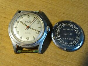 【送料無料】腕時計 ドancienne montre automatic altus 17 jewels a finir de restaurer calibre f690