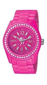 【送料無料】腕時計 ディスコピンクアナログプラスチックピンクエンベデッドデザインセンターedc by esprit disco glam glowing pink ee900172009 analog kunstst pink