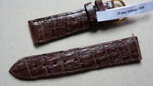 【送料無料】腕時計 クロコダイルブレスレットウエストメインマロンヌフbracelet veritable crocodile fait main couleur marron taille 22mm x 20mm neuf