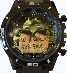 【送料無料】腕時計 スポーツカエルワークウォッチfrog will work for food funny gt series sports wrist watch