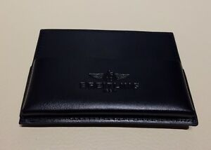【送料無料】腕時計 ワイドリンノワールドキュメントbreitling, pochette en cuir noir, certificat documents ou autres