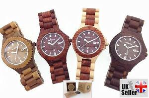 【送料無料】腕時計 スタイリッシュボックスreal wooden watches made of 100 natural wood, handcarft stylish with gift box
