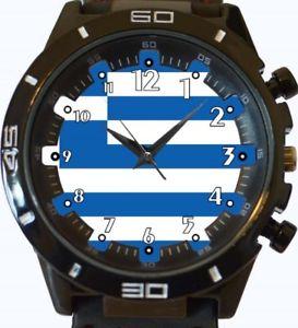 【送料無料】腕時計 ギリシャスポーツフラグflag of greece gt series sports wrist watch