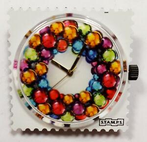 【送料無料】腕時計 #カラフルサークル#stamps uhr 034;colourful circle034;