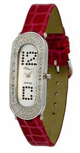 【送料無料】腕時計 パリブレスレットmoog paris montre femme avec cadran argent bracelet fuschia