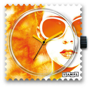 【送料無料】腕時計 スタンプオレンジstamps stamps uhr watch  lady orange