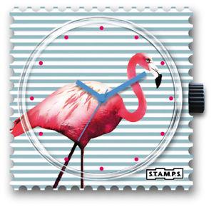 【送料無料】腕時計 スタンプピンクフラミンゴstamps stamps uhr watch pink flamingo