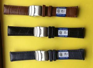 【送料無料】腕時計 ブレスレットドロットアンティbracelet de montre,lot ,3 couleurs , en cuir avec boucle dployante