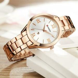 【送料無料】腕時計 ファッションブランドドレスステンレススチールレディースcurren fashion brand quartz luxury dress stainless steel watch ladies, womens