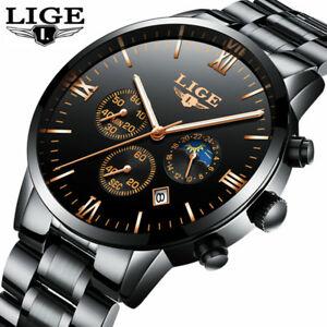 【送料無料】腕時計 スポーツフルスチールビジネスファッションウォッチsports quartz full steel business waterproof watch fashion gift for him dad 24