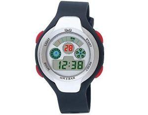 【送料無料】腕時計 メンズデジタルアラームクロノバックライトラバーストラップブラック