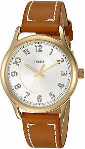 送料無料 腕時計 ヘリテージゴールドトーンアナログブラウンレザーウォッチストラップtimex tw2r23000 herita8kwnP0OX