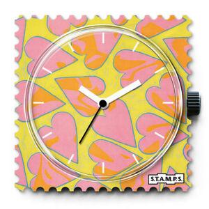【送料無料】腕時計 スタンプウォッチポインタstamps stamps uhr watch  heartbreaker gelbgrnweie zeiger