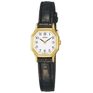 【送料無料】腕時計 ステンレススチールブラックレザーストラップレディスウオッチ