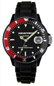 【送料無料】腕時計 アクアフォースベゼルmaqua force combat watch w rotating bezel 50m water resistant