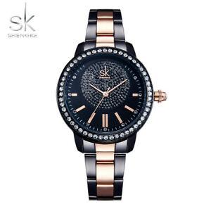 【送料無料】腕時計 ローズゴールドウォッチレディースクリスタルスタークリスマスshengke rose gold watch women ladies crystal luxury xmas star gifts for her girl