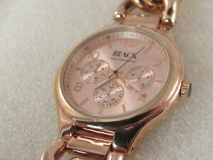 【送料無料】腕時計 ローズゴールドチェーンブレスレットブラックサックスフィフスアベニューウォッチ