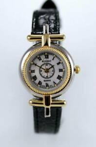 【送料無料】腕時計 リージェントレザーステンレススチールクォーツバッテリーウォッチregent womens leather stainless steel water resistant quartz battery watch