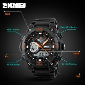 腕時計 デジタルアナログクォーツスポーツウォッチ2018 luxury men military led digital analog quartz waterproof sports watch