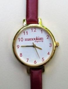 【送料無料】腕時計 メタルドールブレスレットボルドーmontre pour femme manoukian en mtal dor avec bracelet bordeaux neuve