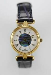 【送料無料】腕時計 アワビステンレスゴールドrelic watch womens abalone white water res stainless gold leather purple quartz
