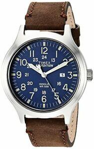 【送料無料】腕時計 メンズスカウトレザーストラップウォッチカラー