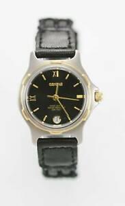 【送料無料】腕時計 ジュネーブ#ステンレスシルバーゴールドブラックレザークォーツ
