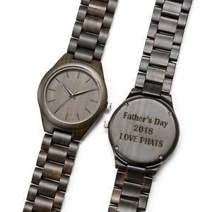 【送料無料】腕時計 メンズカスタムウォッチmens custom wooden watch engraved personalized wood birthday groomsmen gift