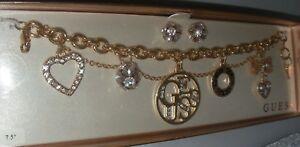 【送料無料】腕時計 ブレスレットインチカラーネックレスゴールド guess bracelet with earrings goldcry color 75
