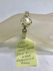 【送料無料】腕時計 ハンドウインチ1955 ladys bulova hand wind wristwatch running