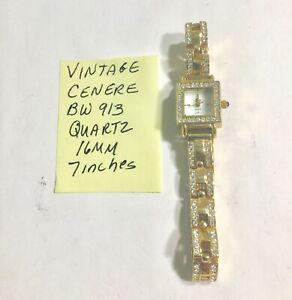 【送料無料】腕時計 ビンテージブレスレットvintage ladys cenere quartz bracelet wristwatch running