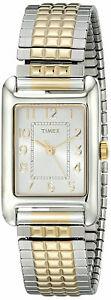 【送料無料】腕時計 アナログシルバースチールブレスレットtimex t2p305 womens analog watch goldsilver expansion steel bracelet
