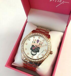 【送料無料】腕時計 ジョンソンスケルトンクラウンローズゴールドブレスレットウォッチボックスbetsey johnson sugar skull skeleton crown rose gold bracelet watch bj00249 box