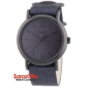【送料無料】腕時計 メタリックブラックレザーストラップスチールケースドレス
