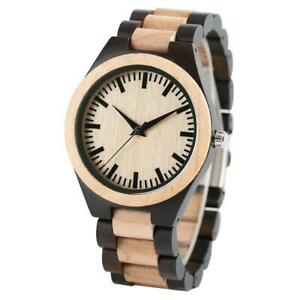 【送料無料】腕時計 メンズメープルハンドメイドmens luxury maple wooden handmade gifts nature full wood quartz bamboo wrist wa