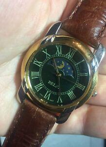 【送料無料】腕時計 ルマンバッテリートーンムーンフェイズrelic zr21601 mans wrist watch runs battery two tone moon half phase