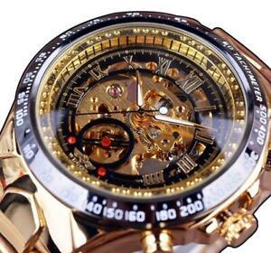 【送料無料】腕時計 メンズスケルトンスポーツデザインベゼルmens skeleton watch sport design bezel