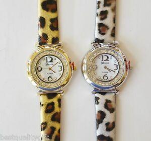 【送料無料】腕時計 デザイナージュネーブプラチナシルバーゴールドモップクリスタルレザーウォッチdesigner geneva platinum silver,gold cheetah ,mop,crystal leather watch2282