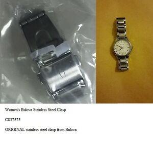 【送料無料】腕時計 ステンレススチールクラスプクラスプオリジナルwomens bulova c837575 stainless steel original clasp replacement clasp only