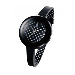【送料無料】腕時計 オブジェクトコレクションブラックホワイトドットウォッチ