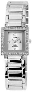 【送料無料】腕時計 ラインストーンアクセントレディースシルバーアラビアアナログメタル×ウォッチakzent damenuhr silber strass arabische ziffern analog metall xss7822500006