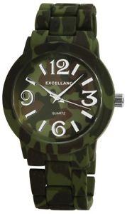 【送料無料】腕時計 アーミーグリーンカムフラージュアナログexcellanc damenuhr grn camouflage army armee military analog x150826000017