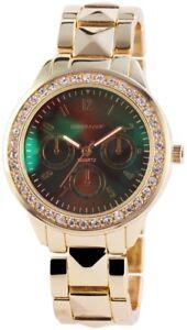 【送料無料】腕時計 レディースブラウンローズゴールドラインストーンウォッチクロノアナログクォーツexcellanc damenuhr braun rosgold strass chronolook analog quarz x150707000004